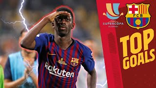 🔥🔥 BARÇA'S BEST EVER GOALS in the SUPER CUP!!