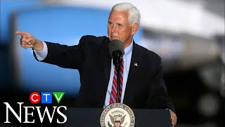 Pence continues campaigning despite COVID-19 outbreak in his inner circle