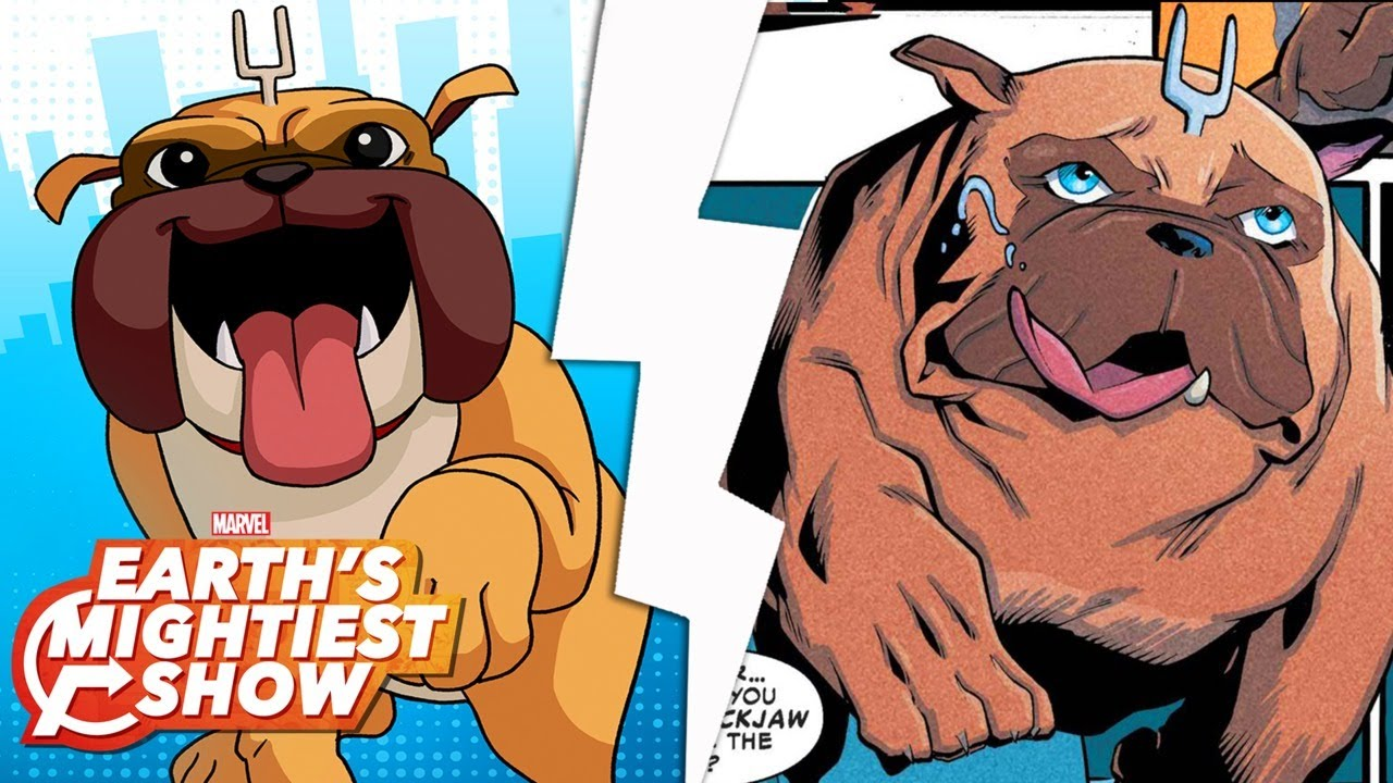 Get to know Lockjaw from Marvel Rising!   Earth's Mightiest Show Bonus