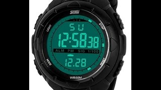 Часы skmei 1025 мужские наручные. Обзор. Настройка