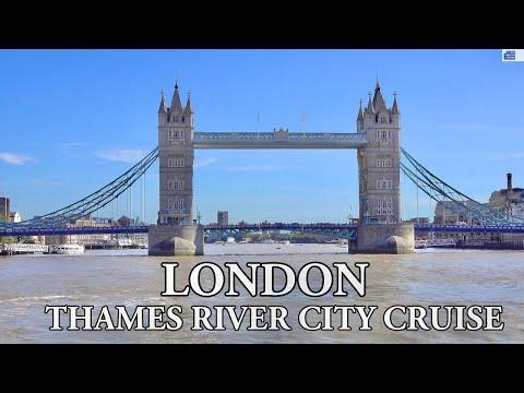 LONDON - THAMES RIVER CITY CRUISE 2019 4K