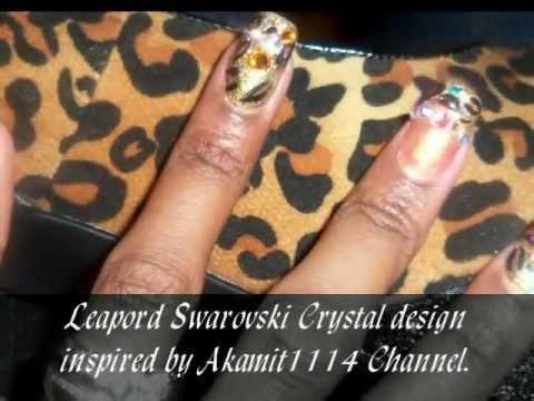 Latest Nail Designs With Swarovski Crystal Rhinestones Youtube