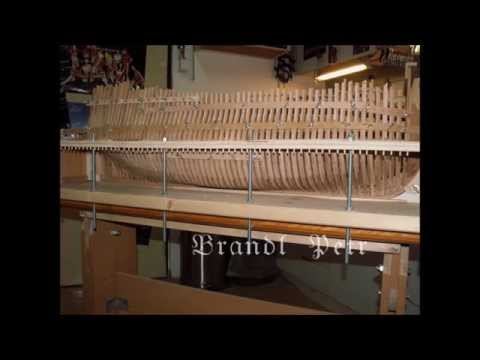 Historic ship model building Le Fleuron 1729 part  II