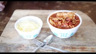 How To Make Turkey Lasagna Soup - Recipe