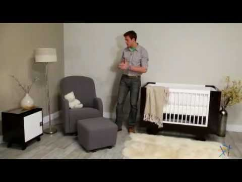 Dutailier Upholstered Collection Glider and Ottoman Combo - Product Review Video