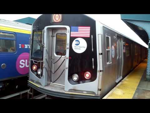 [MTA]: 96th Street / 2nd Avenue Bound R160 Siemens (Q) Train with SAS Ad Wrap @ West 8th St