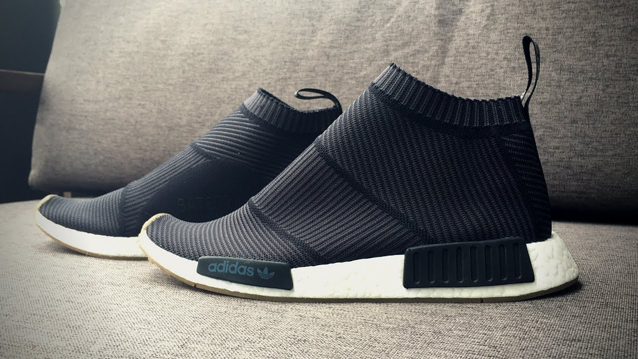 ADIDAS NMD CITY SOCK CS1 'BLACKGUM' ON FEET LOOK