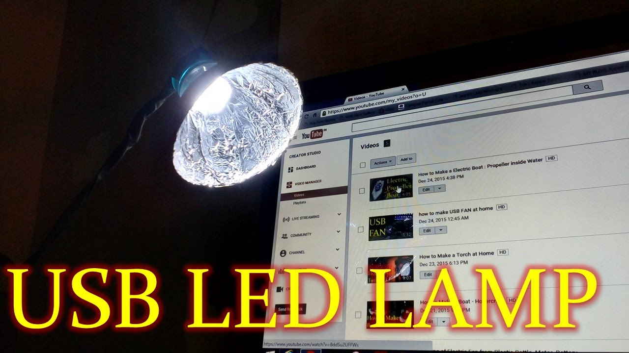Charming How To Make A USB LED Lamp At Home   Easy Way   YouTube