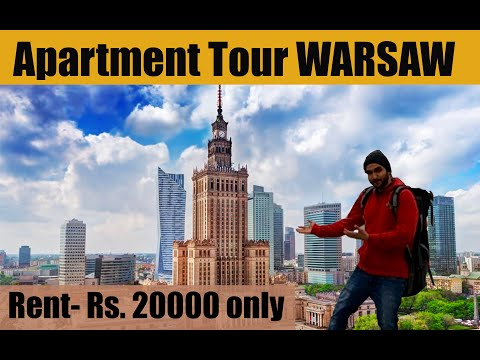 Cheapest Apartment in WARSAW Apartment Tour   Travel to Warsaw Poland - Indians in Poland 2021