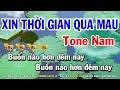 Karaoke Xin Thời Gian Qua Mau - Tone Nam Nhạc Sống | Huỳnh Lê