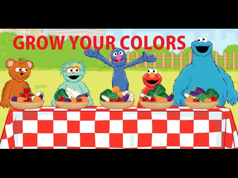Grow Your Colors With Elmo, Cookie Monster, Little Bear, Rosita And Grover  [English And Spanish] - YouTube