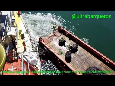 "Offshore Supply Ship ""GOLONDRINA DE MAR""/Crude Oil Tanker ""CABO VIRGENES""/STS TRANSFER OPERATION - 1"