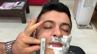 Asmr Turkish Massage(beard cut)(sheet washing)(Magic massage)(sakal traşı)