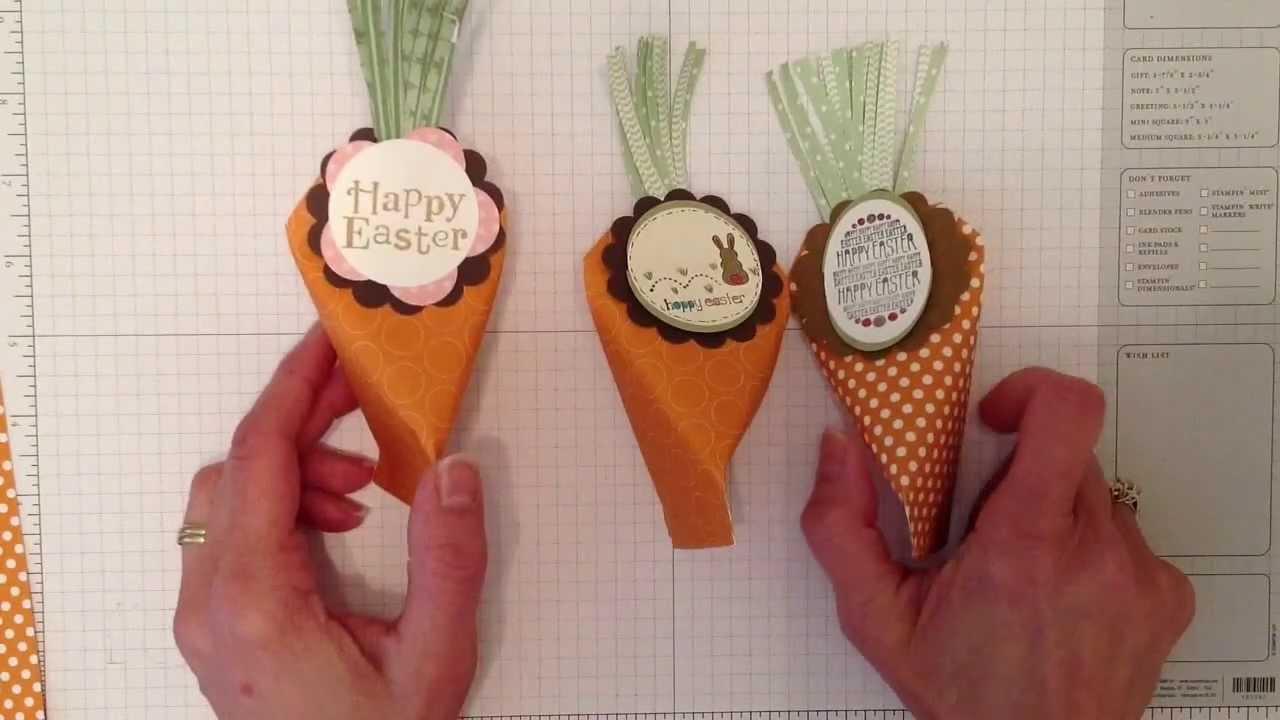 Easter Carrot Treat Holder
