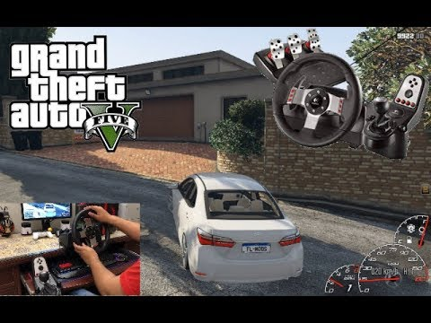 Download GTA 5 Taxi Driving With Logitech G27 Toyota Corolla 2018