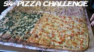 "4 Competitive Eaters vs. 54"" Pizza Challenge (Big Mama"
