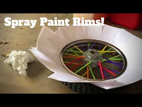 How To Plasti Dip/Spray Paint Dirtbike Rims!