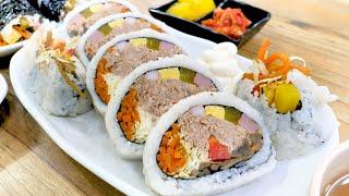 김밥 매니아는 다아는, 속 재료만 80프로 이상 넣어 …