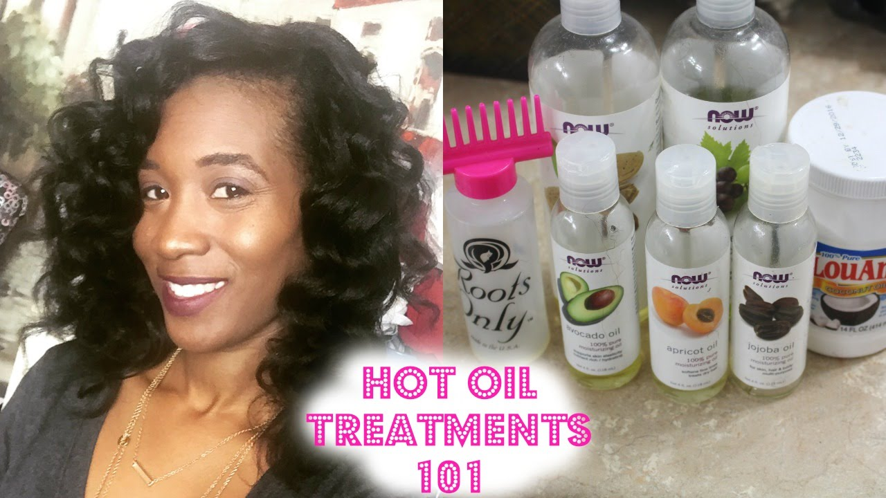 Hot Oil Treatments 101! I Relaxed Hair  YouTube