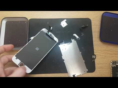 Full repair video to replace screen and clean your hand - friend Apple Iphone 6g Part 1 of 2
