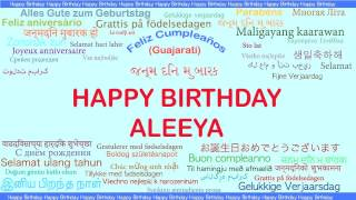 Aleeya   Languages Idiomas - Happy Birthday