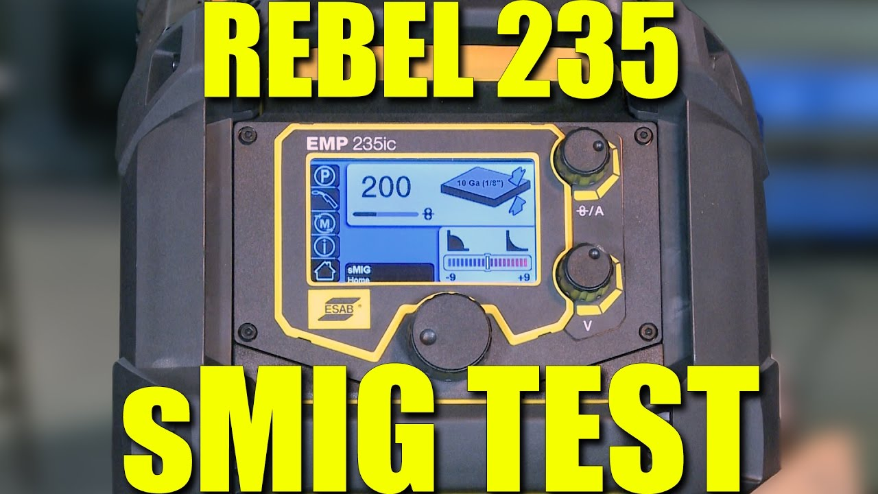 maxresdefault 🔥 smig welding in a groove esab rebel 235 review part 2 youtube rebel wiring harness reviews at soozxer.org