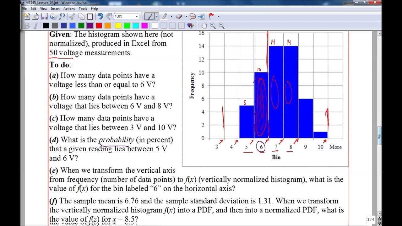 Histograms Example Problems
