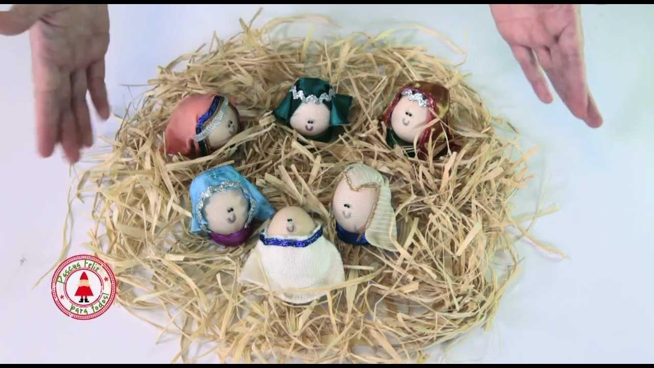 Te propongo que hagas un pesebre con huevos youtube - Belenes de navidad manualidades ...