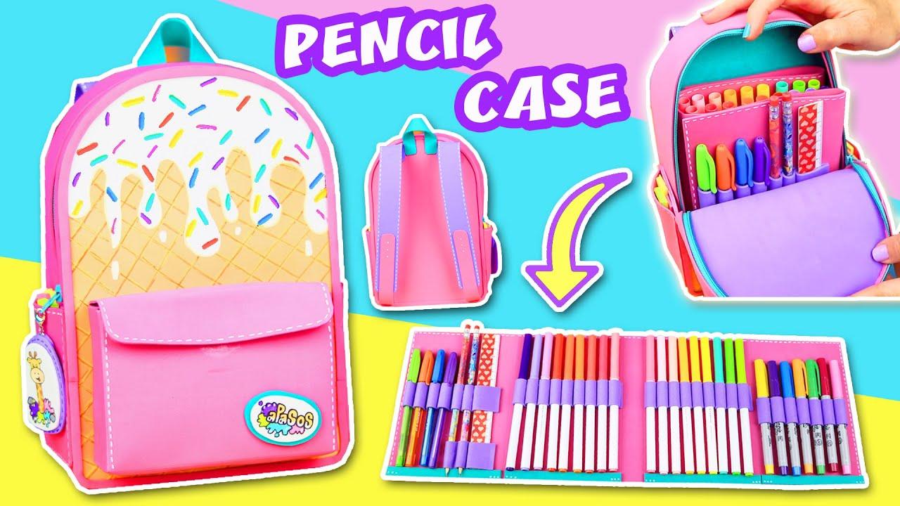 Diy Ice Cream Pencil Case Mini Backpack School Supplies Back To School Apasos Crafts Diy Youtube