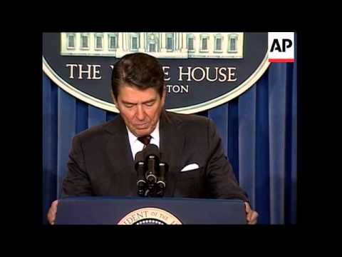President Ronald Reagan announces that Soviet General Secretary Mikhail Gorbachev will visit Washing