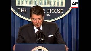 President Ronald Reagan announces that Soviet General Secretary Mikhail Gorbachev will visit Washing