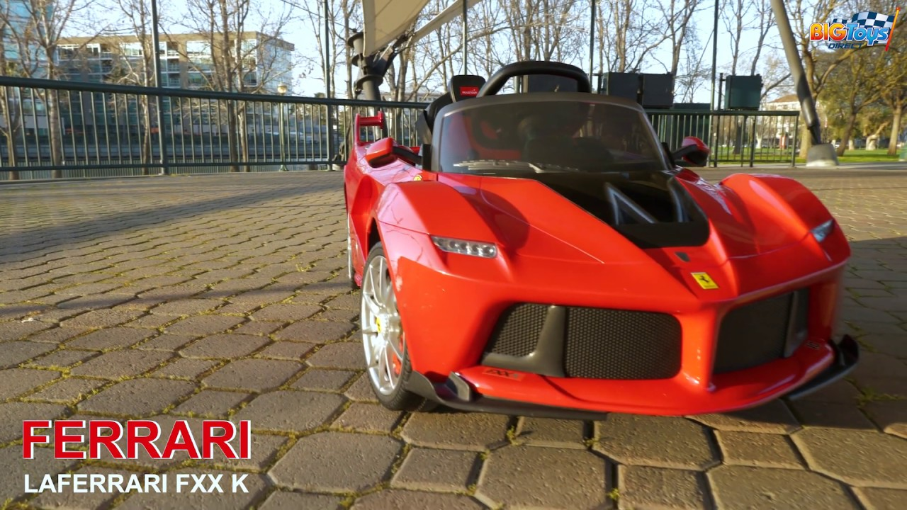 BIG TOYS DIRECT 12V Ferrari FXX K Battery Operated Ride on Car with Remote