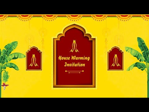 griha pravesh invitation video traditional housewarming invitations inviter com