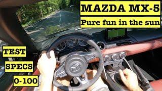 2021 NEW Mazda MX-5 Skyactive-G 2.0 184hp Roadster Soft top | POV Test Drive | Specs