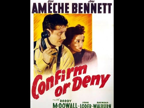 Archie Mayo / Fritz Lang: Confirm or Deny (United States, 1941 film) War