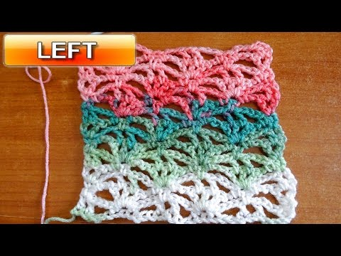 Lacy Stitch 1 - Left Handed Crochet Tutorial