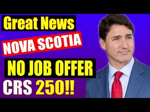 CANADA NOVA SCOTIA PNP EXPRESS ENTRY LOWEST CRS SCORE EVER INVITED!! | CANADA IMMIGRATION