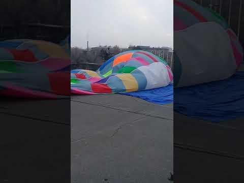 Полет воздушного шара над Ереваном