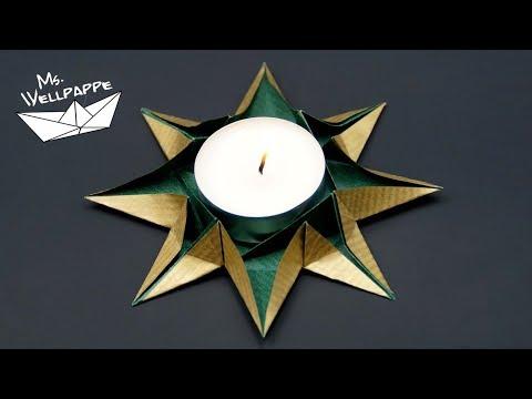 origami-sterne-teelichthalter-falten-/-basteln-zu-weihnachten
