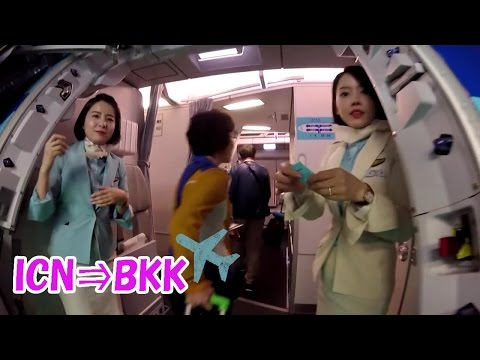 大韓航空 エコノミークラス Korean air 대한항공 ICN-BKK 2016