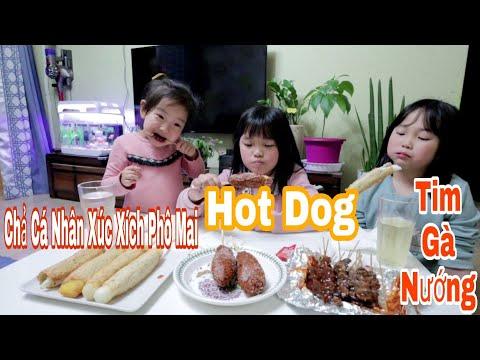 Vlog 144 || Món Ăn Vặt Ở Hàn Quốc #1|| Chả Cá Xúc Xích , Phô Mai , Hot Dog, Tim Gà Nướng