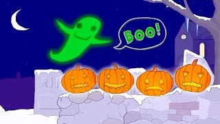 10 Spooky Pumpkins Counting Song | Classic Nursery Rhyme Sing-along with Lyrics!