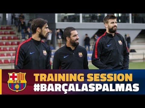 Last training session before Las Palmas match