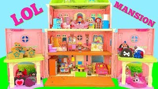 LOL Surprise Dolls Move into a New Mansion House with Custom Bedrooms