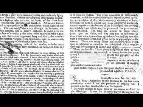"Kent Moran ""New Madrid 1811-1812"" Information sources"