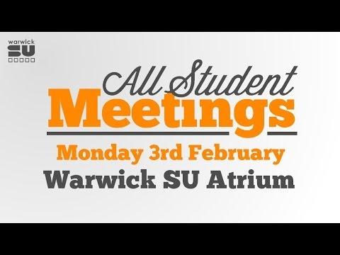 Warwick SU All Student Meeting - 2013-14, Term 2