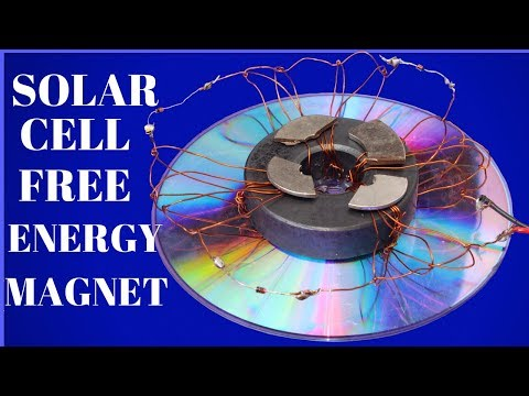 100% Free Energy For Lifetime - How To Make Solar Cell Free Energy Using Magnet