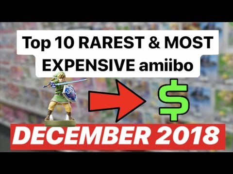 Top 10 Rarest Most Expensive Amiibo Of All Time Update December 2018