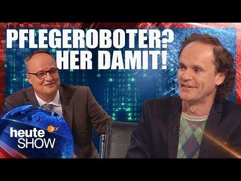 Werden Roboter uns ersetzen? Antworten von Olaf Schubert | heute-show vom 27.04.2018