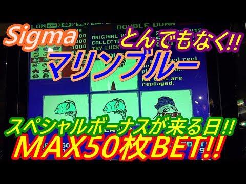 【メダルゲーム】Sigma マリンブルー MAX50枚BET!! とんでもなくスペシャルボーナスが来る日w(2019.05.25)